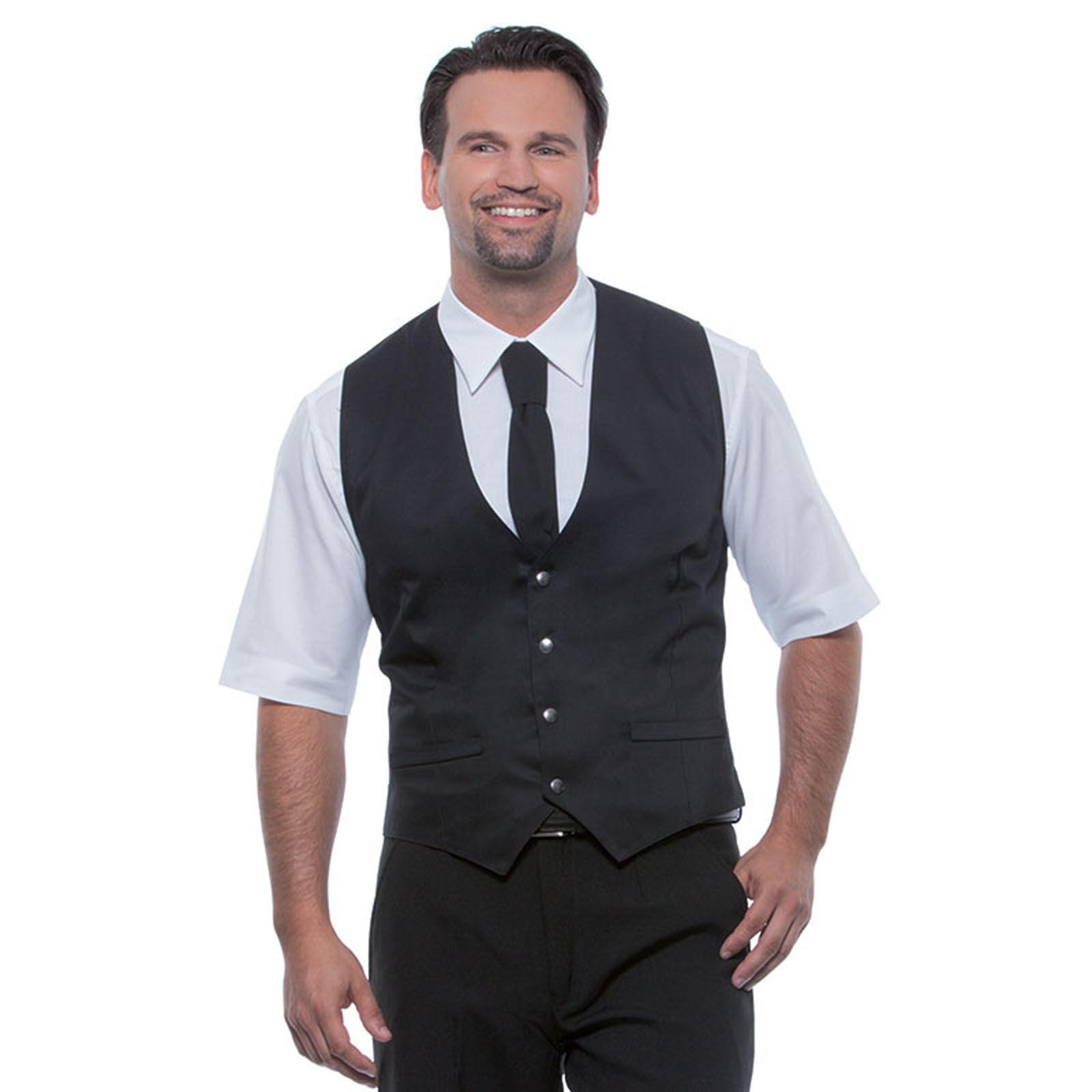Comment bien choisir un gilet homme? - Préférez un gilet sans manches pour les occasions particulières. Cette coupe conviendra aux hommes de diverses morphologies et sera complétée par une veste de costume.