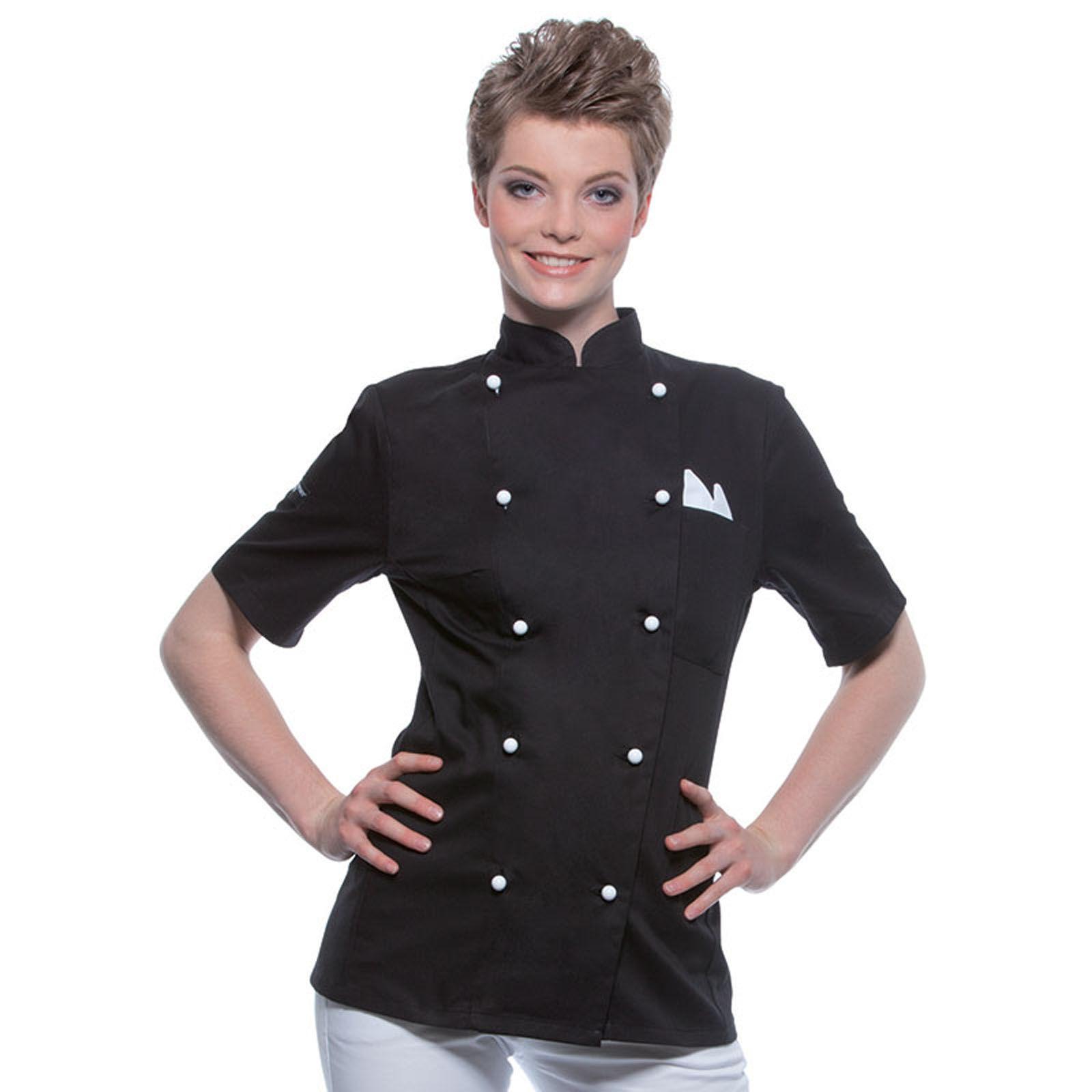 veste de cuisinier personnalisable - le manches courtes - pauline ... - Veste De Cuisine Personnalisee