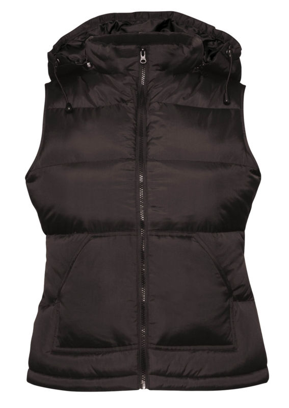 fabricant bodywarmer hiver flocage Noir