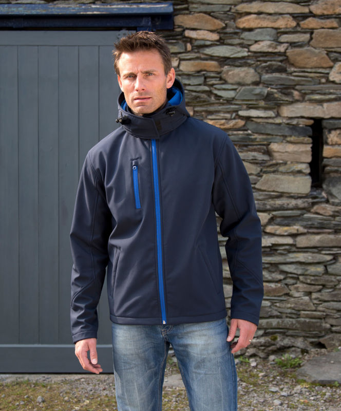 Fynny | Softshell Coupe-Vent publicitaire pour homme Marine Royal 1