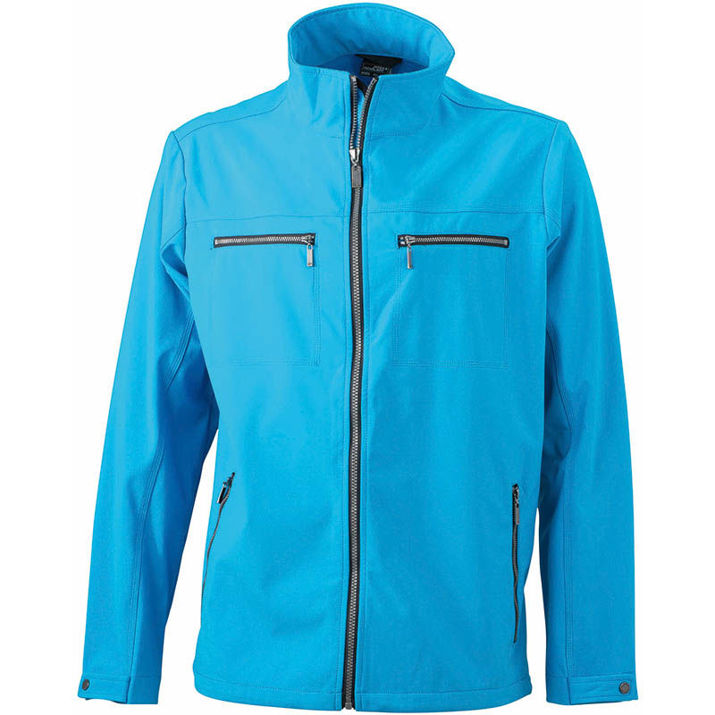 Veste-personnalisable-softshell-homme-turquoise