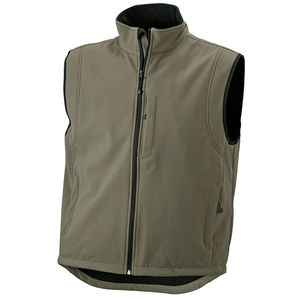 olive - Bodywarmer personnalisé softshell homme sans manches