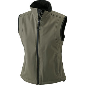 olive - Bodywarmer publicitaire softshell femme sans manches