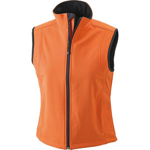orange - Bodywarmer publicitaire softshell femme sans manches