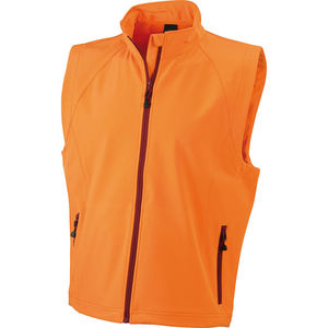 orange - Gilet publicitaire softshell homme sans manches