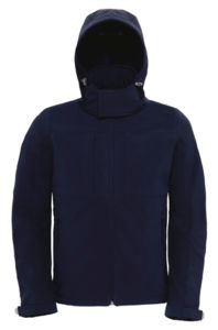 Hooded Men | Softshell publicitaire pour homme Marine 3