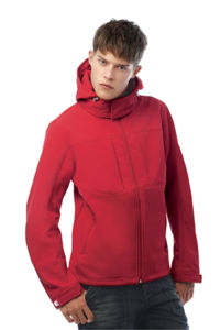 Hooded Men | Softshell publicitaire pour homme Rouge 1